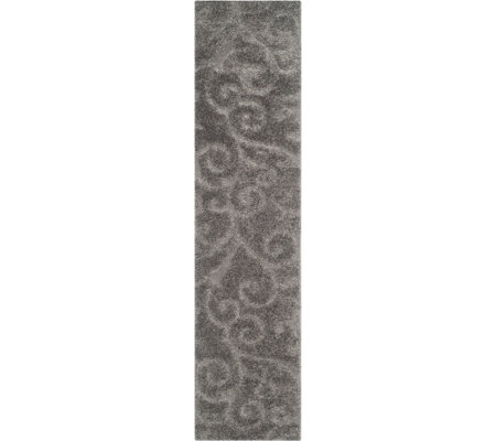 "Safavieh 2'3""x7' Runner Scroll Design Florida Shag Rug"