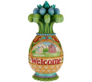 Jim Shore Heartwood Creek Welcome Friends Pineapple Fig