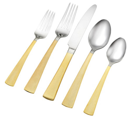Argent Orfevres Broadway Gold-Plated 18/10 40-Piece Set