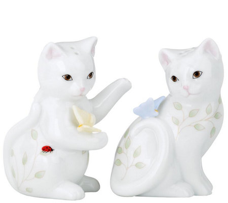 Lenox Butterfly Meadow Kitten Salt Pepper Set