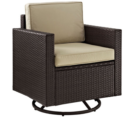Palm Harbor Outdoor Wicker Swivel Rocker Chair