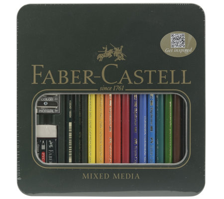 Faber-Castell Polychromos 16-Piece Colored Pencil Set with Ti