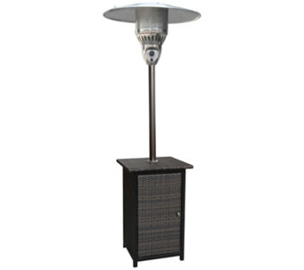 Hanover 7 Ft. 41,000 BTU Square Wicker PropanePatio Heater - H289871