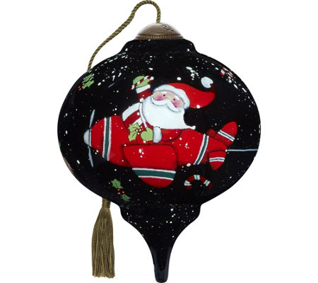 "3.00"" Santa Takes Flight Ornament by Ne'Qwa"