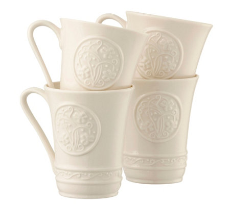 Belleek Set of 4 Irish Craft Mugs