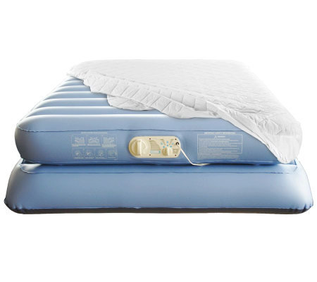 Aerobed Commerical Grade Elevated Queen with Mattress Pad