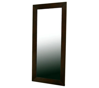Daffodil Floor Mirror in Light Cappuccino Rubberwood Frame - H359671