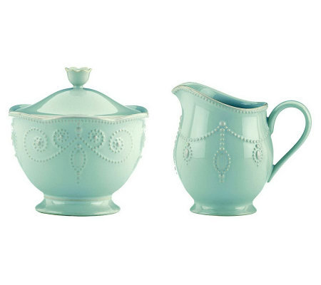 Lenox French Perle Sugar and Creamer Set