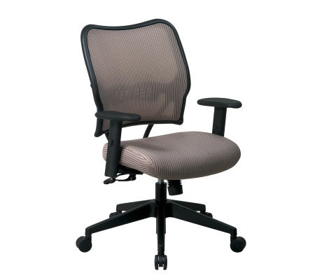 Office Star Taupe Deluxe Chair with VeraFlex