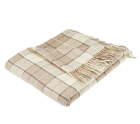 "Foxford Woollen Mills 72""x 58"" Plaid Throw"
