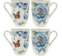 Lenox Butterfly Meadow Set of 4 Dinner Mug Set - H210772