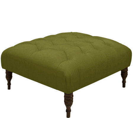 Tufted Cocktail Ottoman in Velvet by Valerie