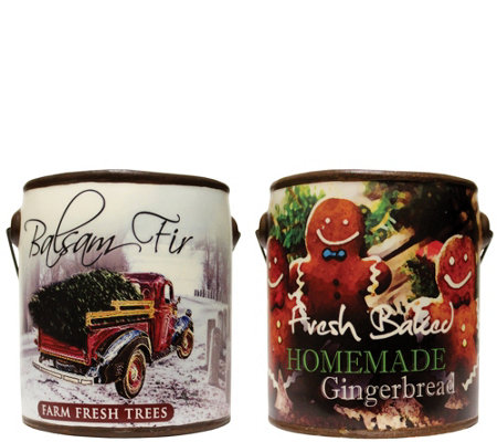 A Cheerful Giver Set of 2 Winter Farm Fresh 20oz. Candles