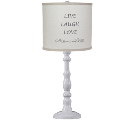 "21"" Townsend Lamp with Live, Laugh, Love Shadeby Valerie"