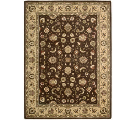 "Nourison Atlas 3'6"" x 5'6"" Persian Machine-MadeFramed Rug"