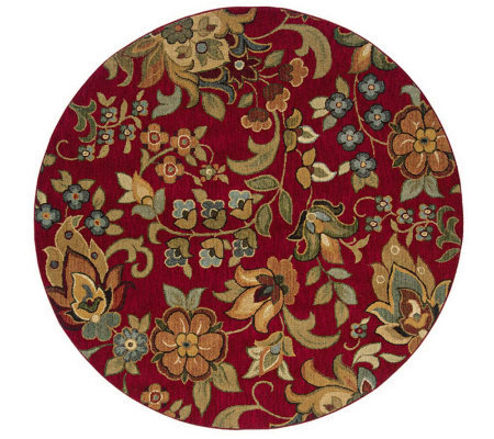 "Antique Garden Window 7'8"" Round Rug by Oriental Weavers"
