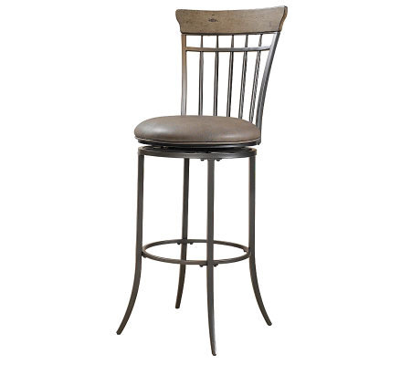 Hillsdale Furniture Charleston Swivel Spindle Bar Stool