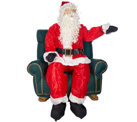 Animated Inflatable Indoor Outdoor Talking Santa With