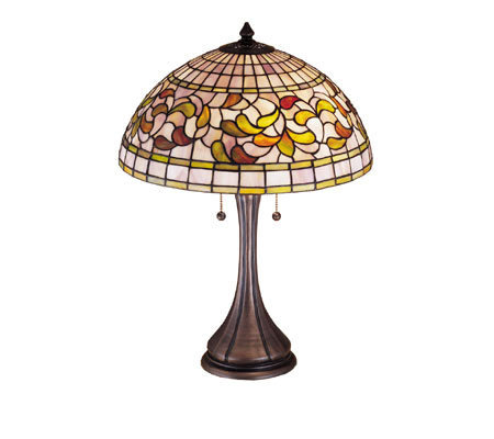 "Tiffany Style 23"" Turning Leaf Table Lamp"
