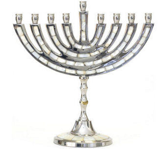 Copa Judaica Mother-of-Pearl Classic Menorah - H144573