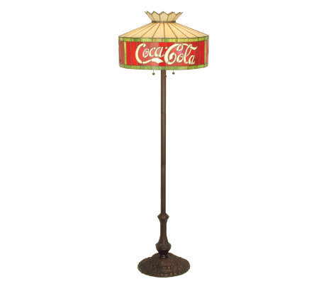 Tiffany-Style Coca-Cola Floor Lamp