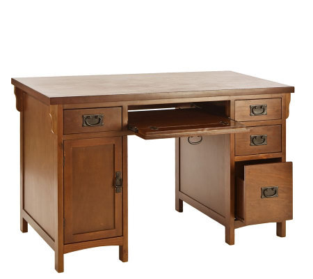 Mission Style Desk in Brown Mahogany