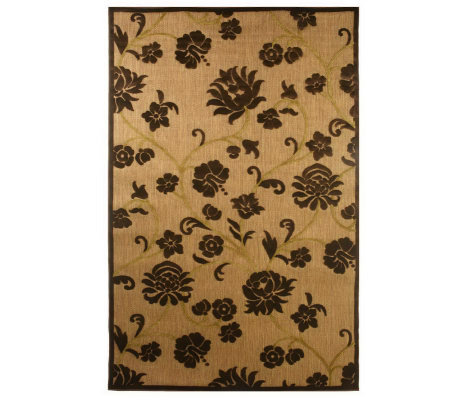 "Bombay 5' x 7'6"" Floral Scroll Indoor/Outdoor Rug"