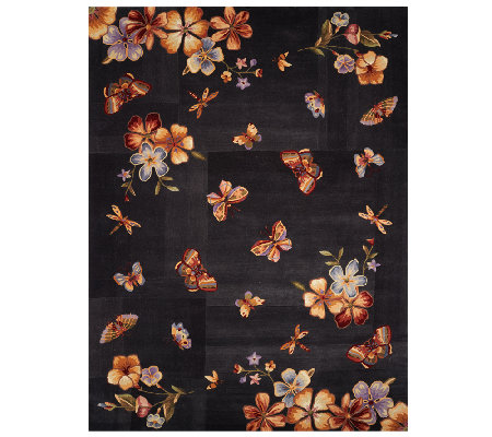 "Royal Palace Butterfly Radiance 8' x 10'9"" Wool Rug"