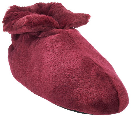 """As Is"" Dennis Basso Signature Faux Fur Slipper Booties"