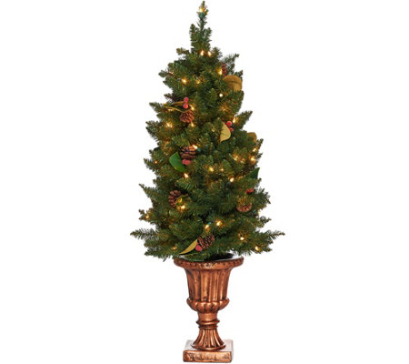 Bethlehem Lights 4' Indoor/Outdoor Lit Canterbury Urn Tree