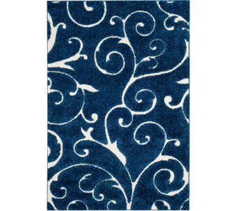 Safavieh 4'x6' Scroll Design Florida Shag Area Rug - H209873