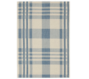 "Safavieh 4' x 5'7"" Plaid Indoor/Outdoor Rug - H283073"