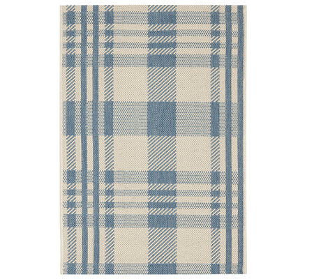 "Safavieh 4' x 5'7"" Plaid Indoor/Outdoor Rug"