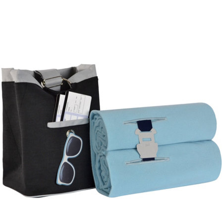 Berkshire Blanket Fleece Throw and Carry-On Bag