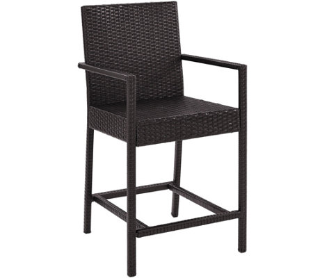 "Palm Harbor Outdoor Wicker 24"" Bistro Stool - Set of 2"