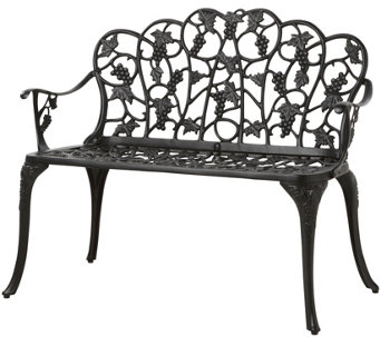 Plow U0026 Hearth Grapevine Garden Bench   H289373 Part 83