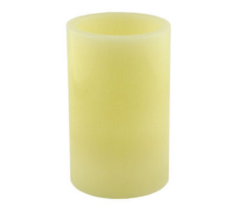 Pacific Accents 5x8 Ivory Flameless Candle Pillar - H348973