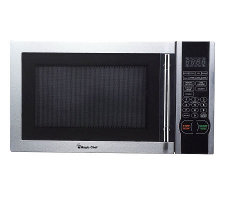 Magic Chef 1.1 Cubic Ft 1,000 Watt Stainless Microwave