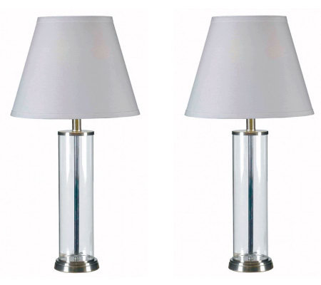 Kenroy Home Echo Set of 2 Fillable Table Lamps
