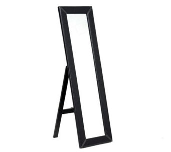 McLean Dark Brown Modern Mirror with Built-In Stand - H359673