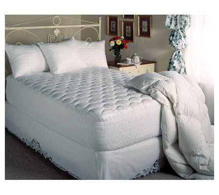 Beautyrest 300TC Queen Cotton Sateen Stripe Mattress Pad