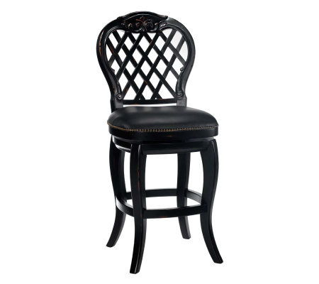 Hillsdale House Braxton Swivel Bar Stool Qvc Com