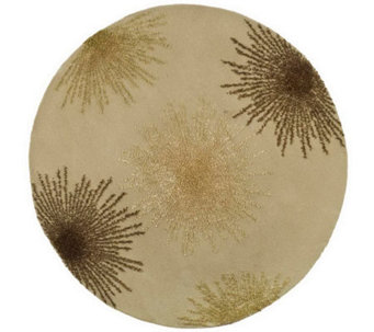 Soho 8' Round Abstract Handtufted Wool/ViscoseBlend Rug - H178574
