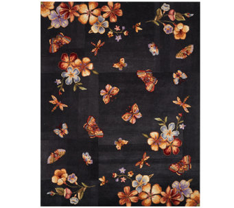"Royal Palace Butterfly Radiance 7'3"" x 9'3"" Wool Rug - H202774"
