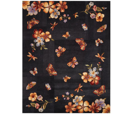 "Royal Palace Butterfly Radiance 7'3"" x 9'3"" Wool Rug"