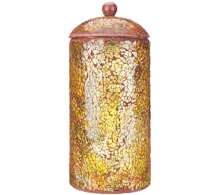 "11"" Illuminated Mosaic Urn with Timer by Valerie"