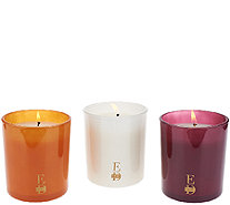 ED On Air S/3 Harvest Candles with Gift Boxes by Ellen DeGeneres - H205974