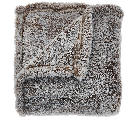 "Berkshire Blanket 60""x80"" Super Oversized Tipped Fluffie Throw"