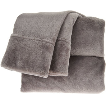 Berkshire Blanket Velvet Soft Cal King Cozy Sheet Set - H209074
