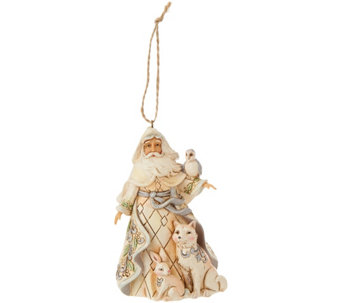 Jim Shore Heartwood Creek Woodland Santa Ornament - H209674